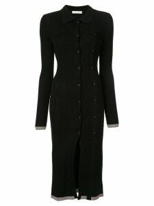 Christopher Esber ribbed knitted midi dress - Black
