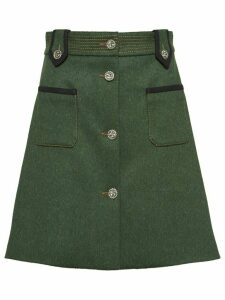 Miu Miu Loden skirt - Green