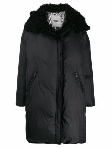 Yves Salomon Army hooded oversized coat - Black