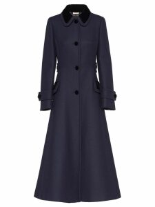 Miu Miu button-front coat - Blue