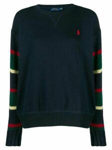 Polo Ralph Lauren striped sleeve sweater - Blue