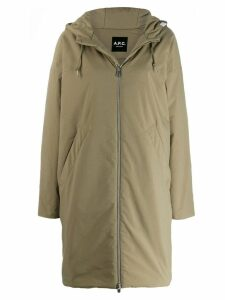 A.P.C. hooded coat - Green