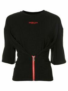 Ground Zero zipped T-shirt - Black
