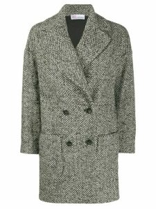 Red Valentino double-breasted midi coat - Black