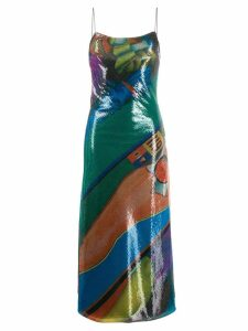 16Arlington printed sequin dress - Green