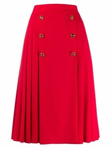 Dolce & Gabbana pleated midi skirt - Red