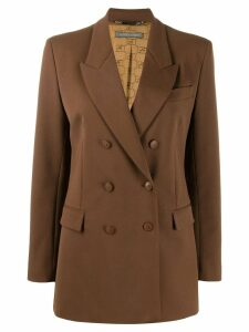 Alberta Ferretti double breasted blazer - Brown