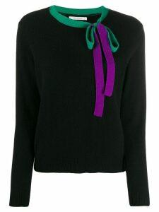 Chinti & Parker bow detail jumper - Black
