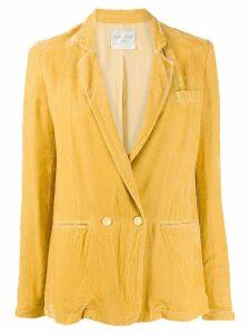 Forte Forte double breasted velvet blazer - Yellow