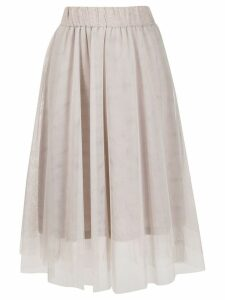 Peserico layered tulle skirt - Neutrals