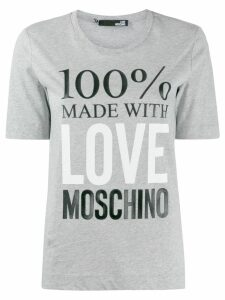 Love Moschino logo print crew neck T-shirt - Grey