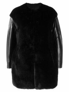 Pinko faux fur boxy jacket - Black