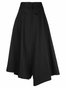 Y's uneven length a-line skirt - Black