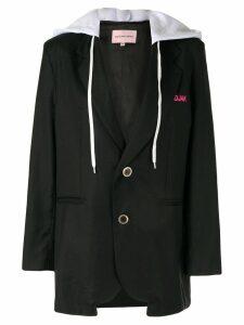 Natasha Zinko drawstring hooded blazer - Black