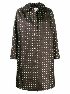 Mackintosh FAIRLIE Polka Dot Bonded Silk Coat LR-079 - Black