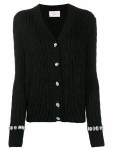 Giuseppe Di Morabito cable-knit cardigan - Black