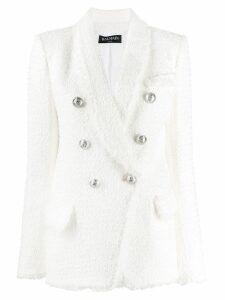 Balmain textured blazer jacket - White
