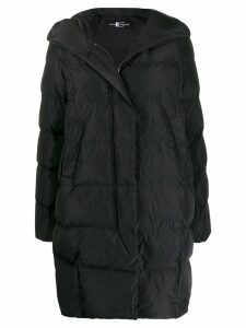 Luisa Cerano quilted mid-length coat - Black