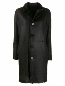 Giorgio Brato shearling button coat - Brown