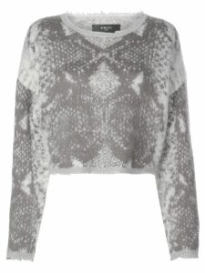 Amiri snakeskin knitted jumper - Grey