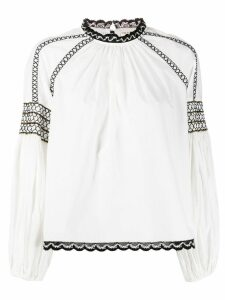 Ulla Johnson long sleeve embroidered blouse - White