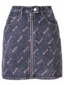Ground Zero distressed denim skirt - PURPLE