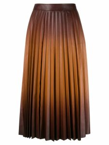 Givenchy gradient pleated midi skirt - Brown