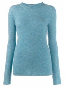 Agnona slim-fit jumper - Blue