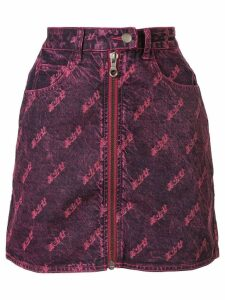 Ground Zero zipped denim skirt - PINK