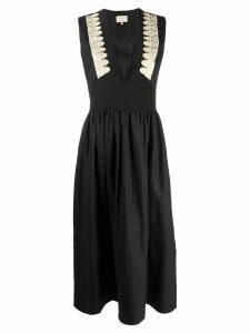 Zeus+Dione attiki embroidery-detail dress - Black