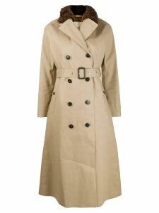 Mackintosh MONTROSE Fawn Bonded Cotton Long Trench Coat LR-091/FUR -