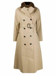 Mackintosh MONTROSE Fawn Bonded Cotton Long Trench Coat LR-091/FUR -