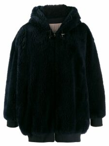 Yves Salomon duffle coat - Blue