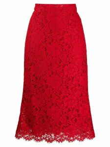 Dolce & Gabbana lace straight fit skirt - Red