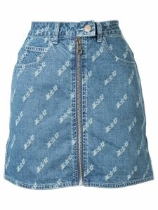 Ground Zero zipped denim skirt - Blue