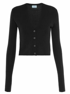 Prada V-neck cropped cardigan - Black