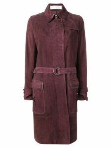 Victoria Victoria Beckham suede trench coat - Red