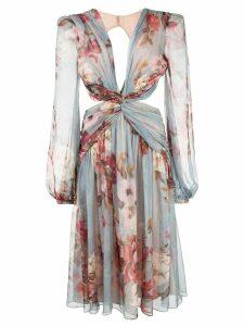 Patbo Peony print cutout midi dress - Neutrals