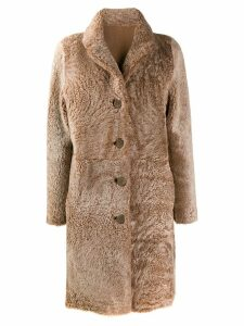 S.W.O.R.D 6.6.44 shearling coat - Brown