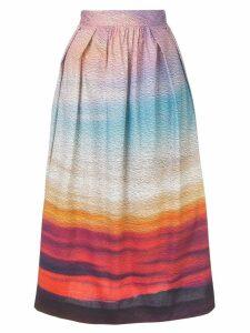 Mary Katrantzou gradient A-line skirt - Multicolour