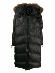 As65 long puffer coat - Black