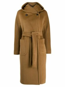 Tagliatore wool double breasted coat - Brown