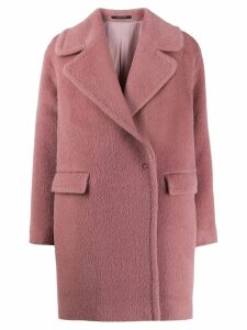 Tagliatore wool single breasted coat - Pink