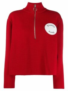 Études Louise half-zip sweater - Red