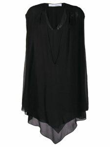 IRO draped asymmetric dress - Black