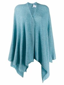 Agnona knitted wrap - Blue