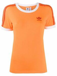 Adidas embroidered logo T-shirt - Orange