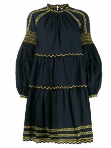Ulla Johnson embroidered long sleeve dress - Blue