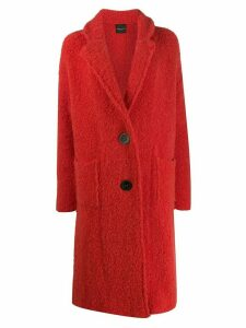 Roberto Collina single breasted coat - Red