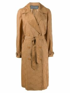 Alberta Ferretti belted trench coat - NEUTRALS